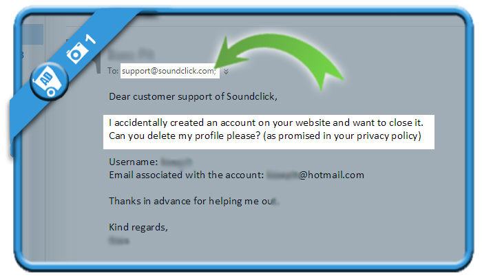 delete soundclick account 1