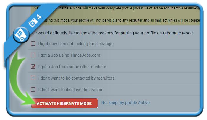delete timesjobs account 4