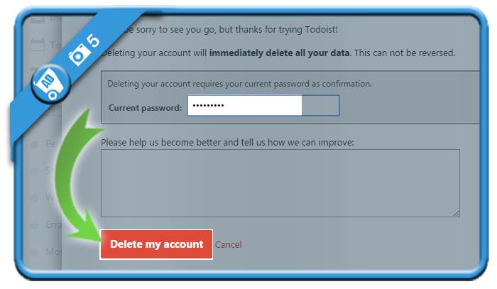 delete todoist account 5