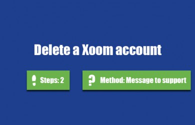delete xoom account 0