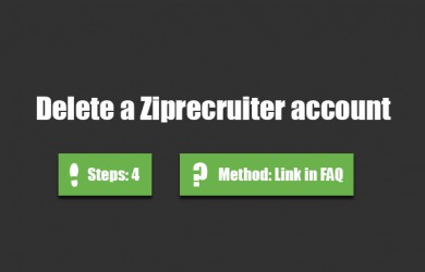 delete ziprecruiter account 0