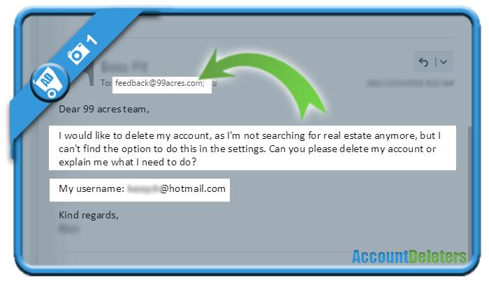 delete 99acres account 1