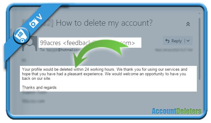 delete 99acres account 2