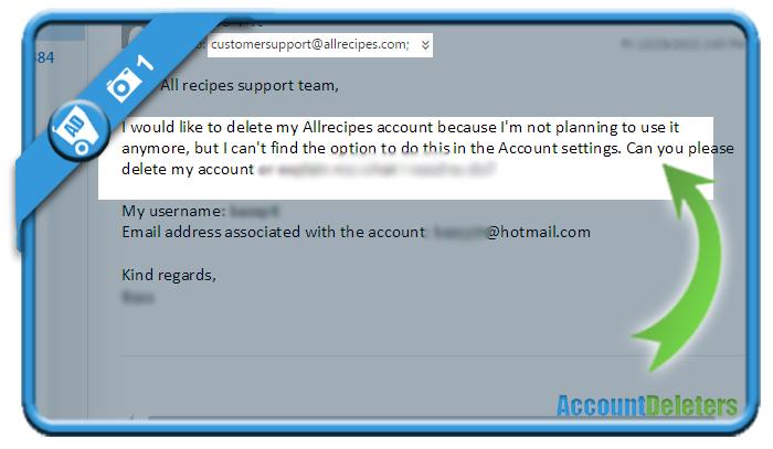 delete allrecipes account 1
