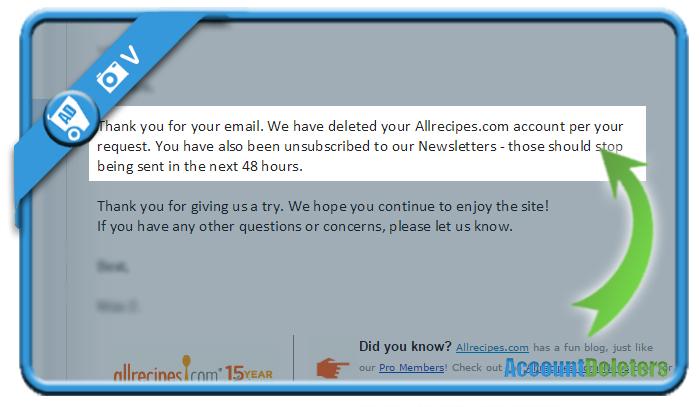 delete allrecipes account 2
