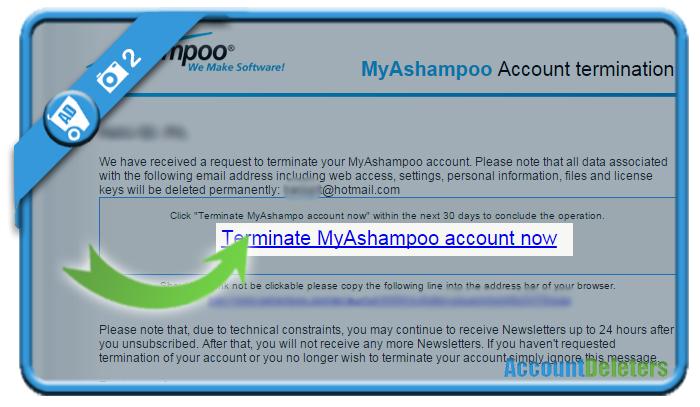 delete ashampoo account 2