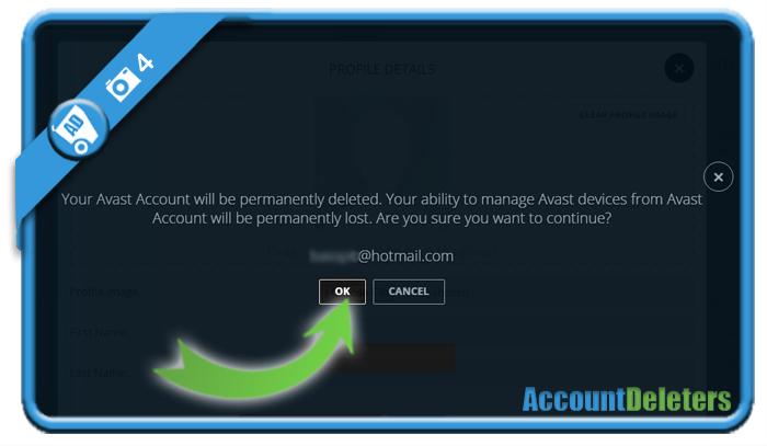 delete avast account 4