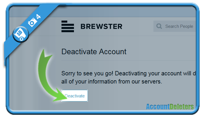 delete brewster account 4
