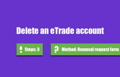 delete etrade account 0
