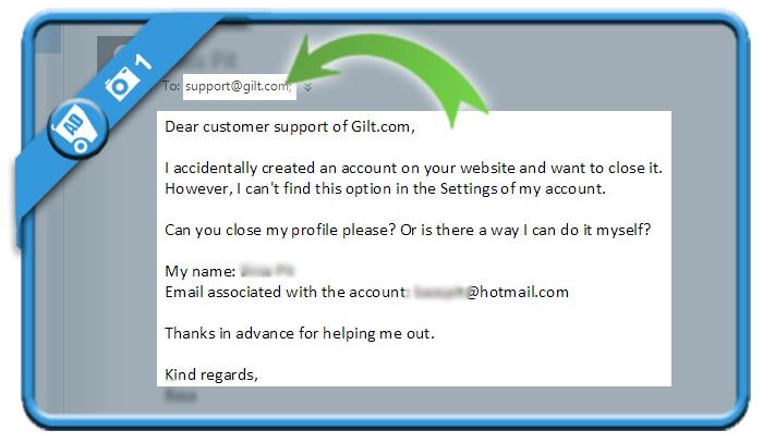 delete gilt account 1