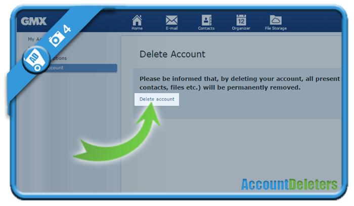 delete gmx account 4