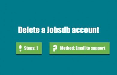 delete jobsdb account 0