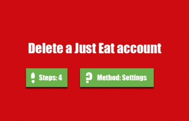 delete just eat account 0