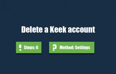 delete keek account 0