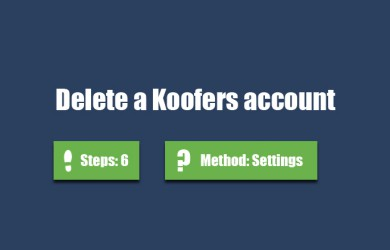 delete koofers account 0