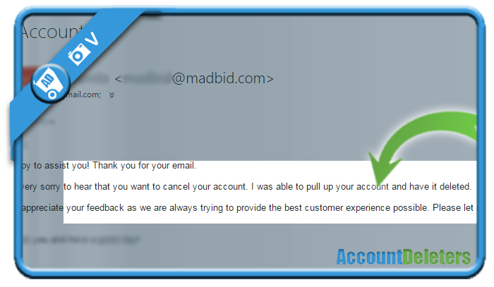 delete madbid account 2
