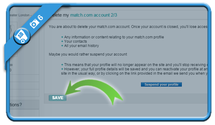 delete match account 6