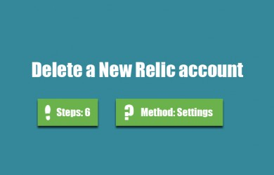 delete newrelic account 0