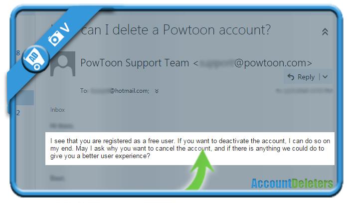 delete powtoon account 2