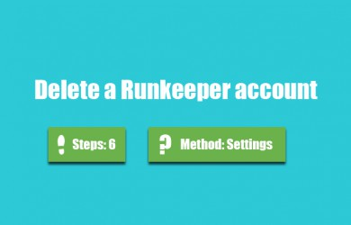 delete runkeeper account 0