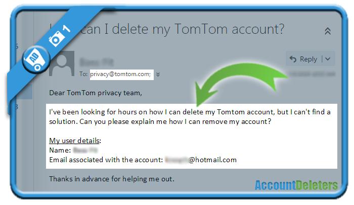 delete tomtom account 1