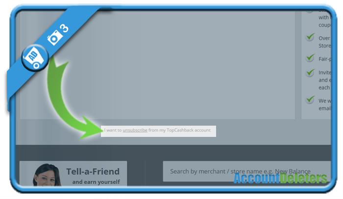delete topcashback account 3