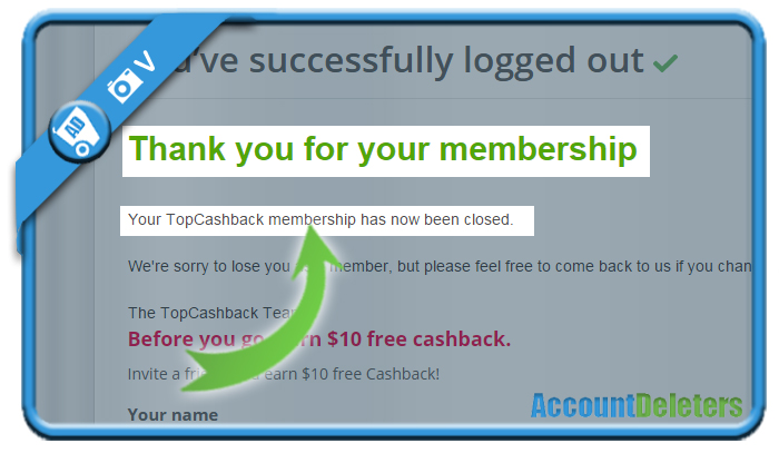 delete topcashback account 6