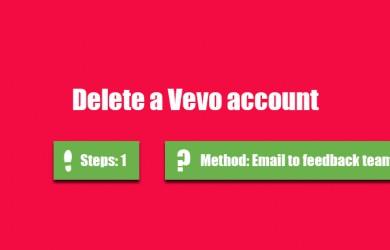 delete vevo account 0
