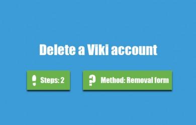 delete viki account 0