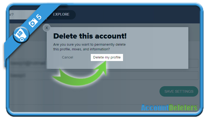 delete 8tracks account 5