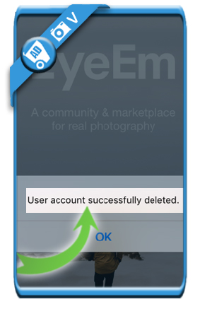 delete EyeEm account 7