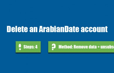 delete arabiandate account 0