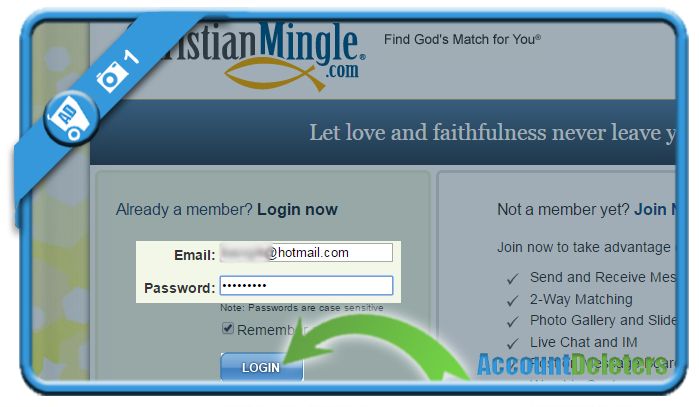 delete christian mingle account 1