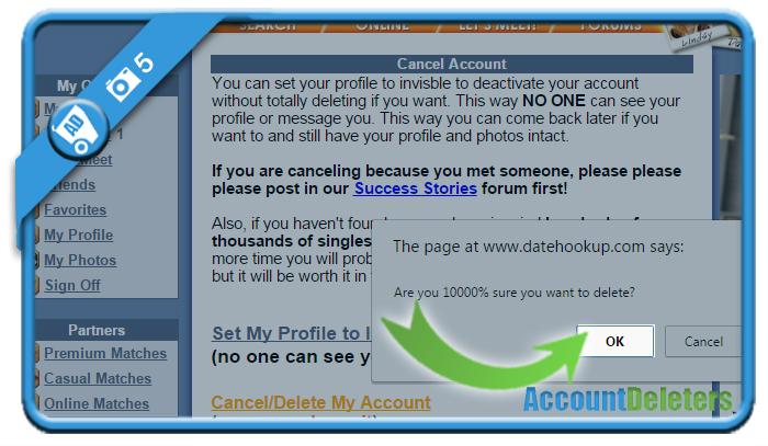 delete datehookup account 5