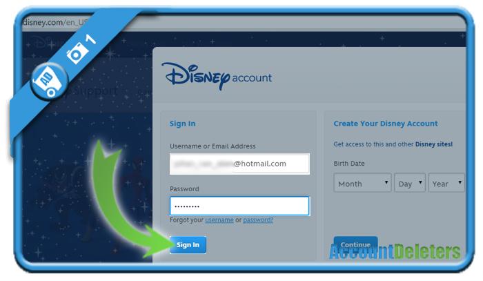 delete disney account 1