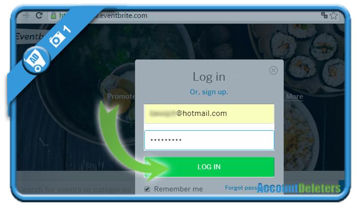 delete eventbrite account 1