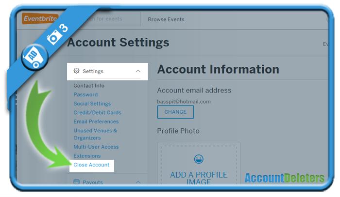 delete eventbrite account 3