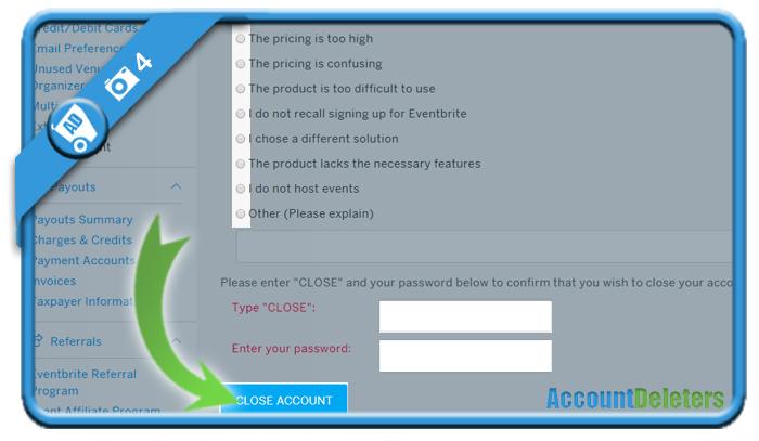 delete eventbrite account 4