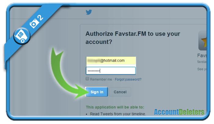 delete favstar account 2