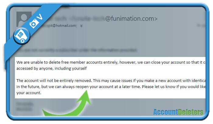 delete funimation account 2
