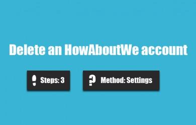 delete howaboutwe account 0