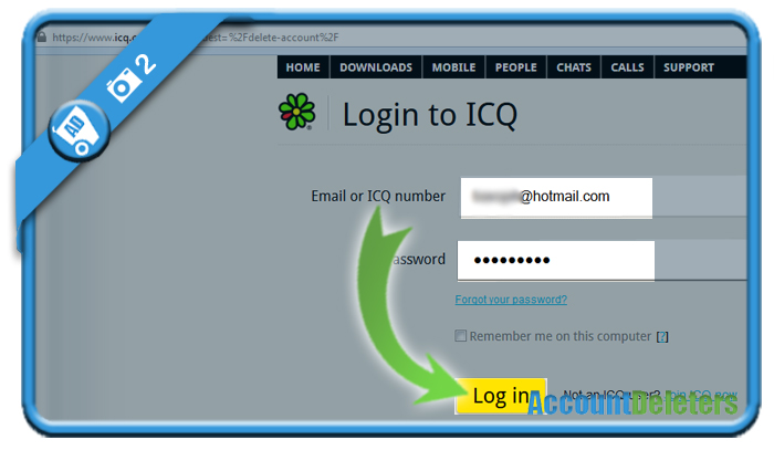delete icq account 2