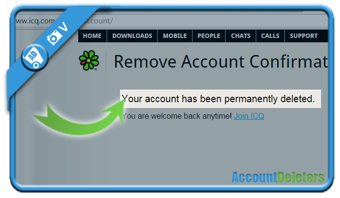 delete icq account 4