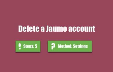 delete jaumo account 0