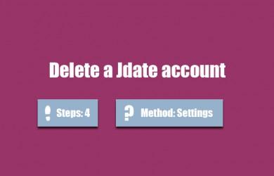 delete jdate account 0