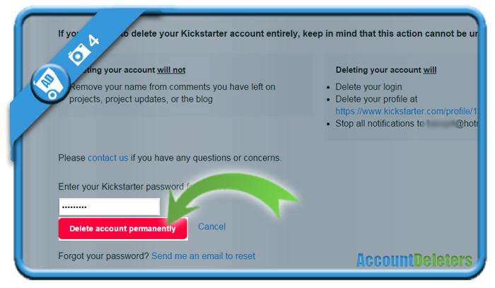 delete kickstarter account 4