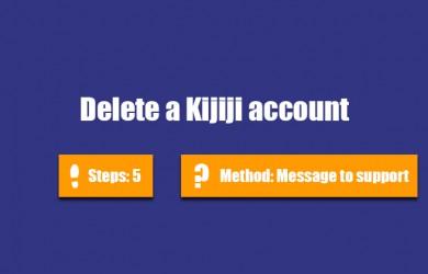delete kijiji account 0