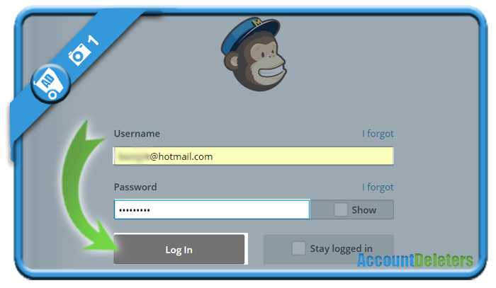 delete mailchimp account 1