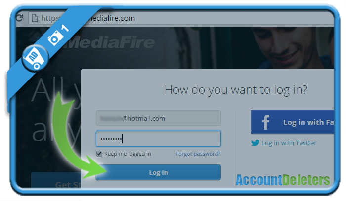 delete mediafire account 1