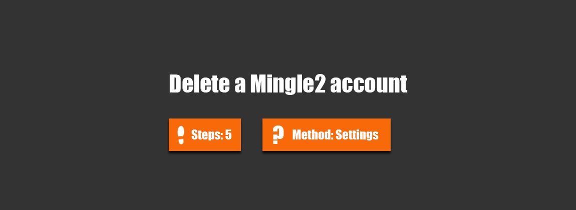 delete mingle2 account